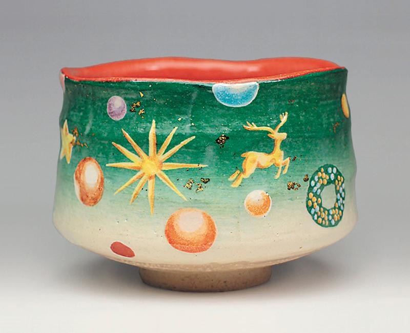 クリスマス飾り図 茶碗